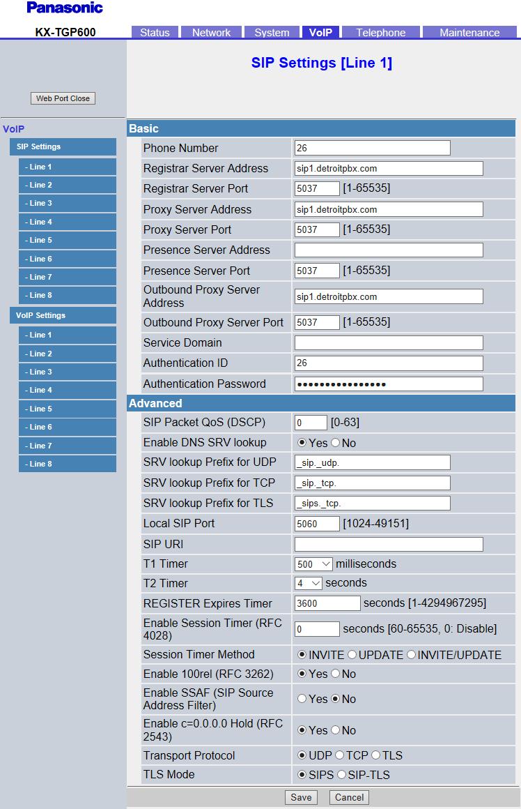 Configuring Panasonic KX-TGP600 – dOpenSource